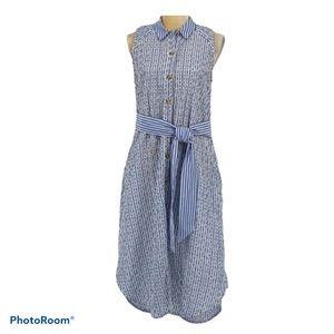 Anthropologie Striped Sleeveless Dress